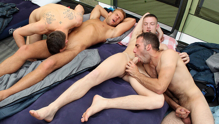 Mating Season Episode 3: Campers Cock Sucking Orgy