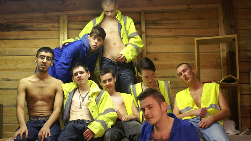 Twink Labourer Threeway Ass Fucking