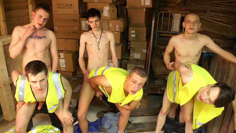 Warehouse Raw Fucking Twinks Can't Stop