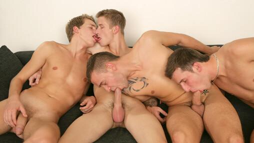 Four Cock Sucking Buddies