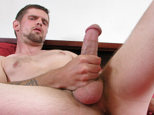 A+Hung+Two-Handed+Jack+Off